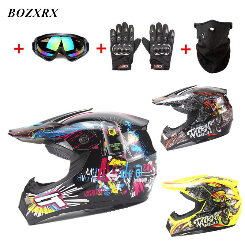 BOZXRX High Quality Motorcycle Motobiker Helmet Classic Dirt Bike MTB DH Racing Helmet Protective Cycling Casque Free shipping