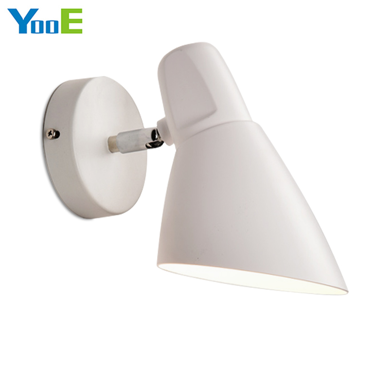 YooE Hot Sale Indoor Wall Lamp Modern Simple Wall Sconce Lighting bedroom Decorate Fshion iron Wall Lights Black / White modern lamp trophy wall lamp wall lamp bed lighting bedside wall lamp