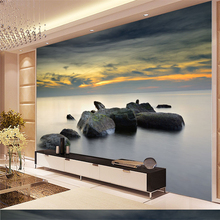 beibehang Large - scale custom wallpaper high - definition aesthetic Coast Fairy Storm clouds of stone murals manchester city