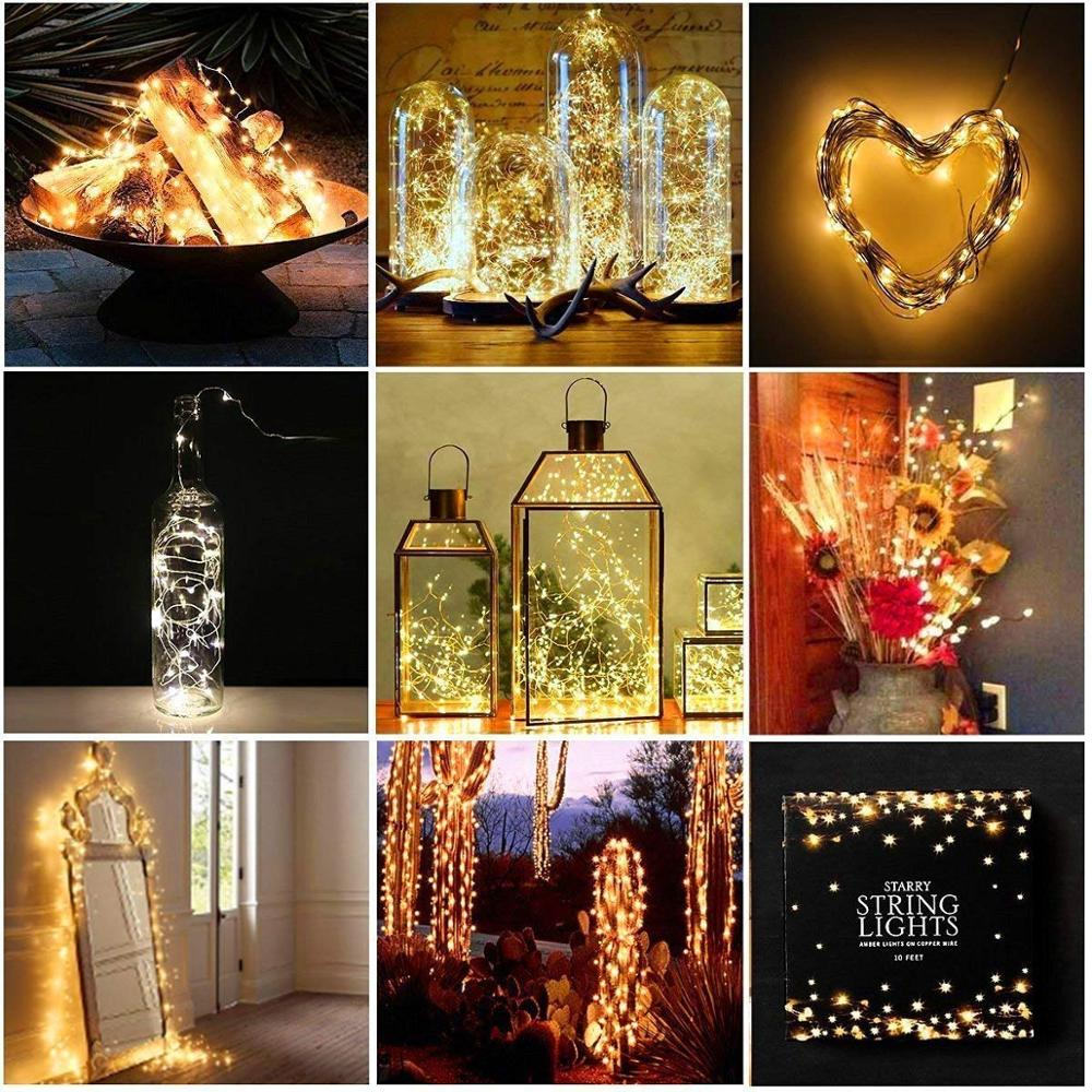 string light led garland 1m 2m 5m 10m USB battery powered outdoor Warm white/RGB festival wedding party decoration fairy light 5