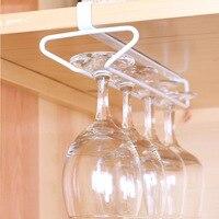 Wine Cup Wine Glass Holder Iron Hanging Drinking Glasses Stemware Rack Under Cabinet Storage Organizer Champagne
