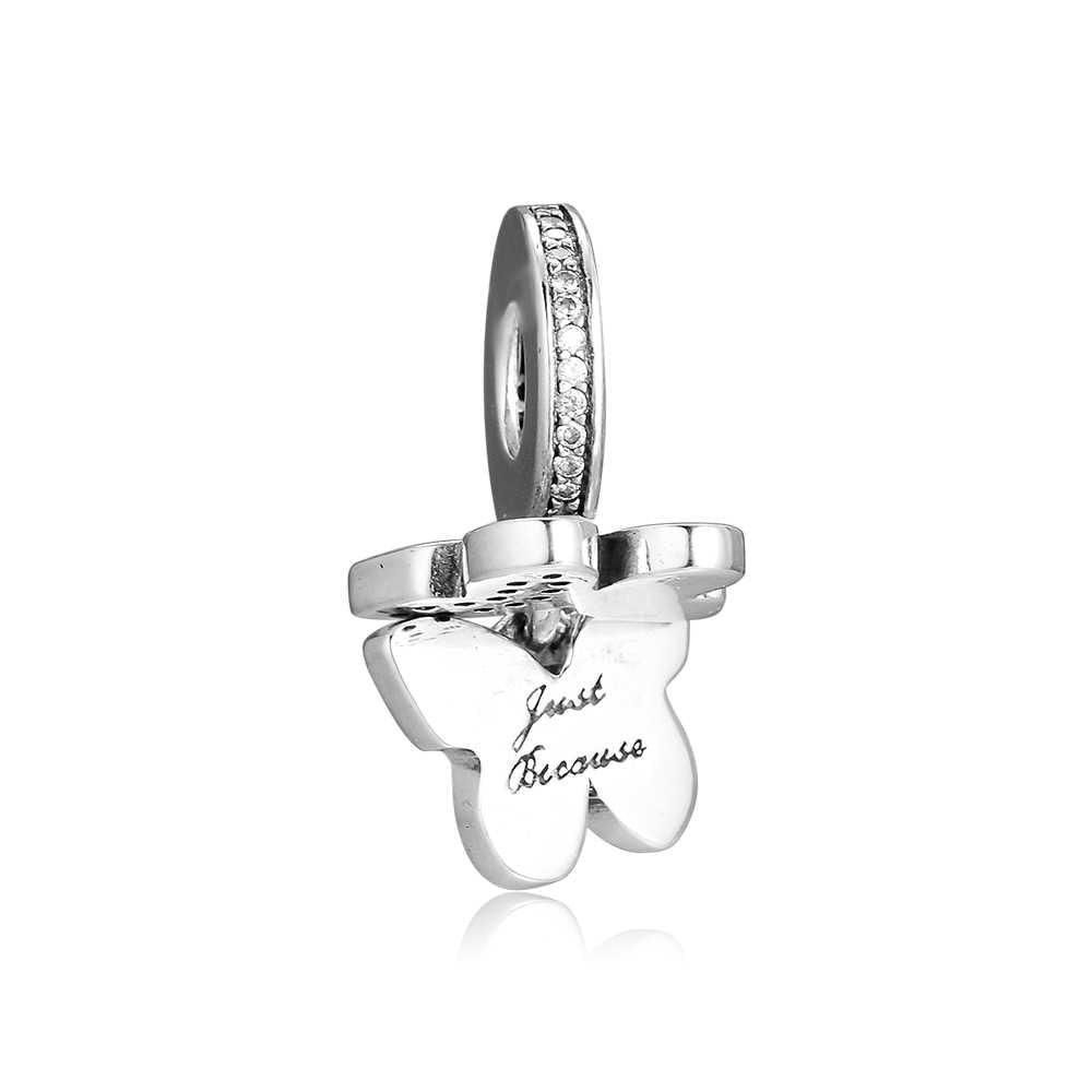 Ckk ajuste pandora pulseiras fluttering borboletas encantos 925 original prata esterlina charme grânulos para fazer jóias berloques