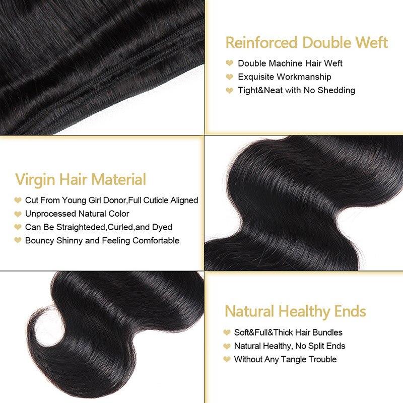 Brazilian Body Wave Virgin Hair Brazilian Hair Weave Bundles 100% Unprocessed Human Hair Bundles Funmi Human Hair 1/3/4 Bundles