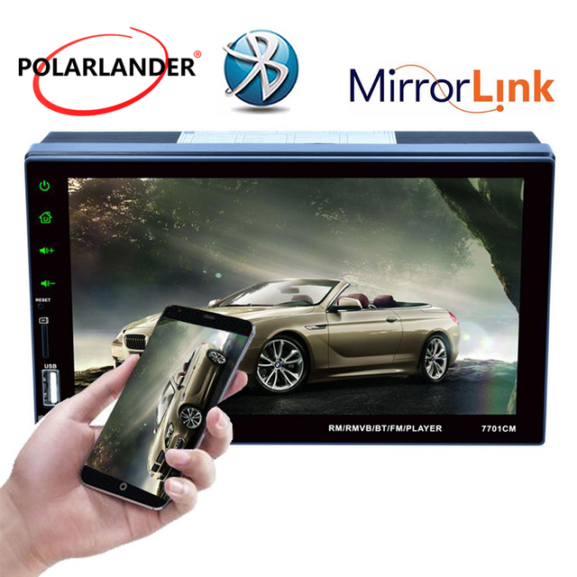 """7""""Radio Touch Screen Stereo MP5 Player Bluetooth For Android Phone 2Din Car USB/FM/Aux With Camera Remote Control Mirror Link"""