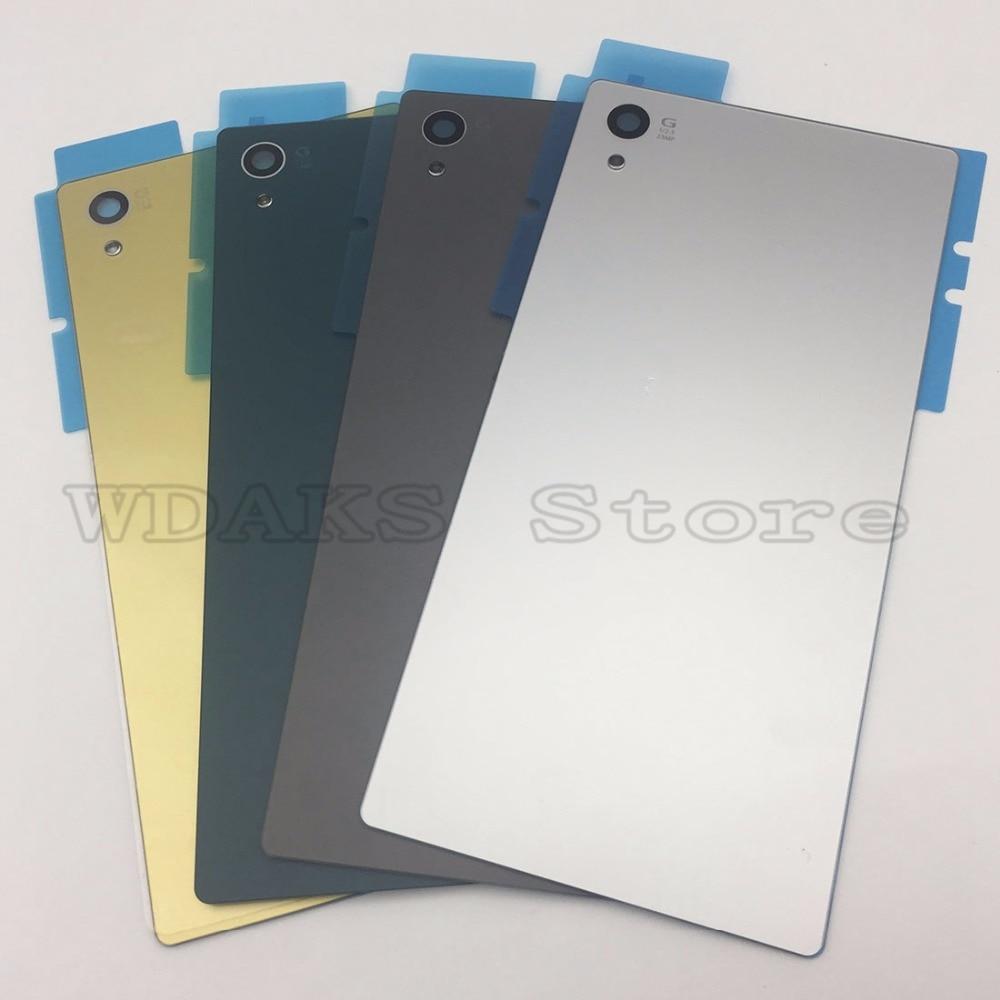 JEDX Matte For Sony Xperia Z5 Rear Back Glass Battery Cover Door Housing+NFC Waterproof Sticker Z5 E6603 E6633 E6653 E6683