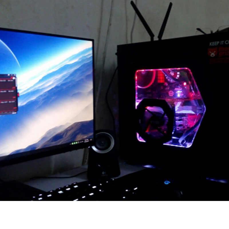 Taśmy LED RGB pełny zestaw światła led dla pc SATA interfejs zasilania pilot zdalnego sterowania PC obudowa komputera klej taśma
