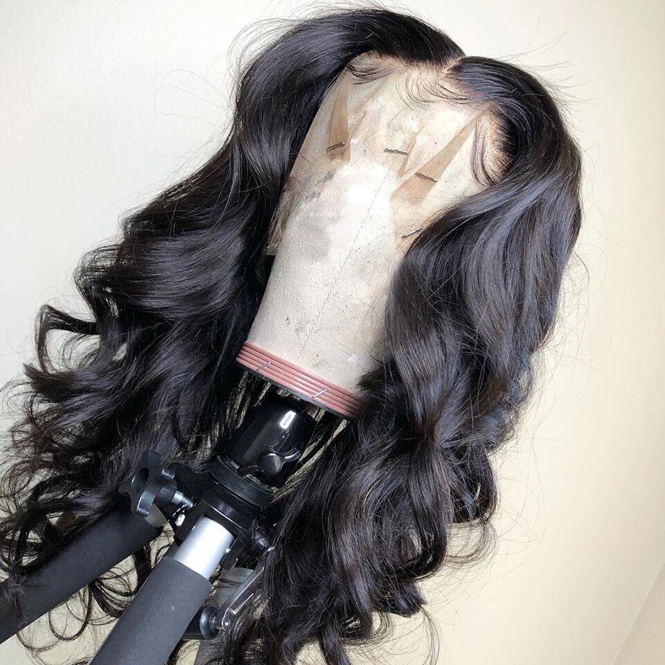 Gelombang Badan Brazil 13x4 Lace Depan Manusia Rambut palsu Untuk Wanita Semula jadi Hitam Bleached Dihidupkan Dengan Rambut Remy Remy Dihancurkan VS BOB