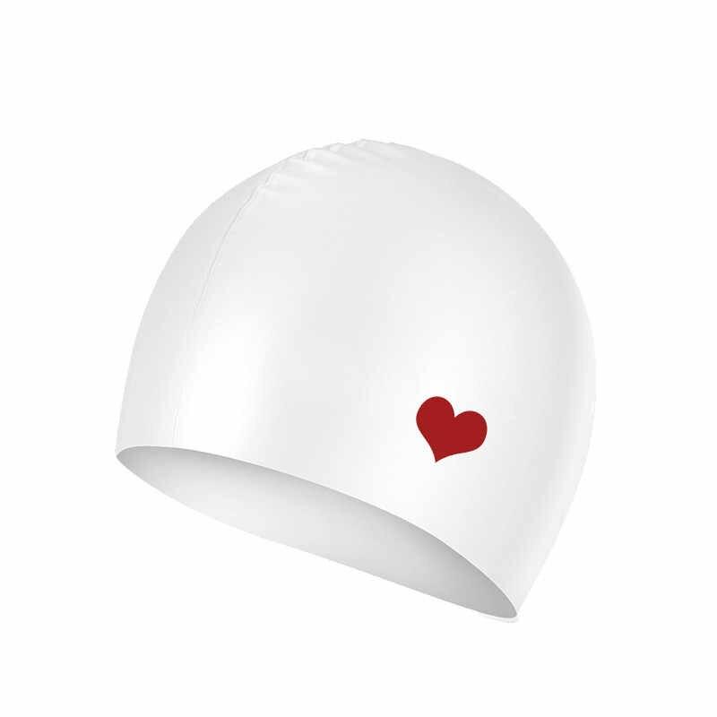 2bb5874c654 Silica gel Waterproof Swimming Caps Protect Ears Long Hair Sports Swim Pool  Hat Swimming Cap Free