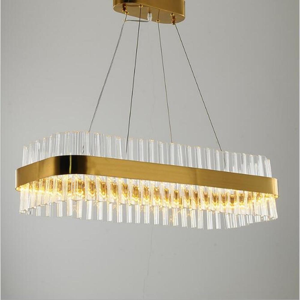 Jmmxiuz New Rectangular Pendant Lights Modern Lamp Ac110v