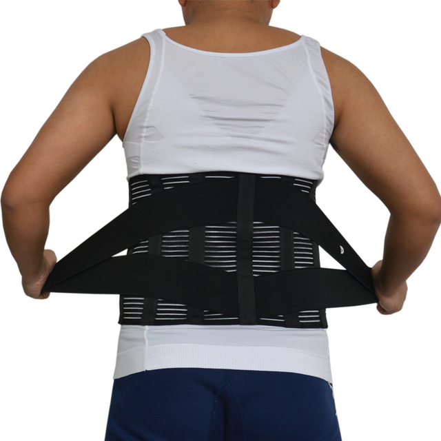 22fdeff700a Health Care Breathable Waist Lumbar Support Belt Pain Relief Lower Back  Brace Belts Posture Corrector Orthopedic Spine Corset