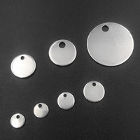 100PCs Round Dog Tags Stainless Steel Silver Stamping Blanks Charm Pendants DIY Jewelry Findings Accessories For