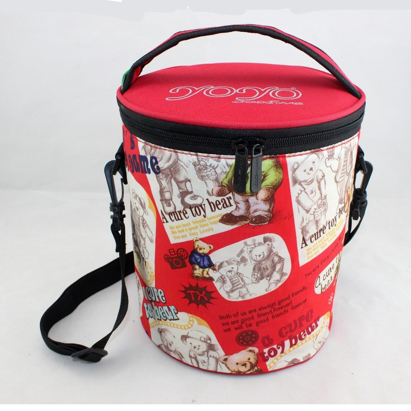 2016 New Round Cartoon Lunch Bags Portable Kids Lunch Bag