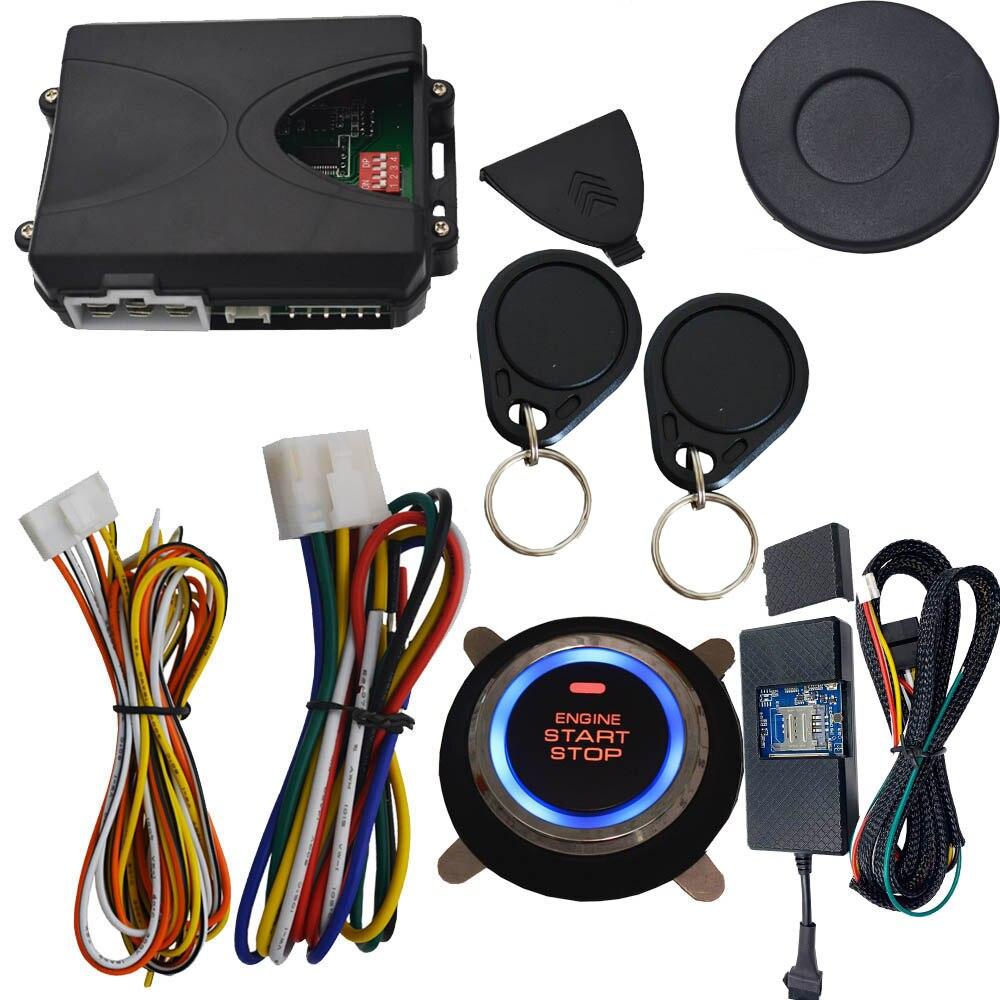 Installation automatique de démarreur de voiture alarme de voiture facile avec bouton d'arrêt de démarrage app mobile gps suivi en ligne