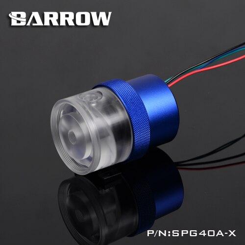 Barrow SPG40A-X, 18 Watt Automatische Pwm-steuerung Geschwindigkeit Pumpen, maximalen Durchfluss 1260L/H, Kompatibel mit D5 Serie Pumpe Kerne und Komponenten
