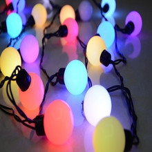 RGB Big Ball LED String Light Fairy Christmas Lights Xmas Decoration Holiday Party ,5M AC110V/220V 20 leds Free Shipping