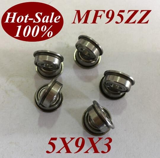 MF95 MF95zz 5x9x3 mm Metal Flanged Ball Bearing Bearings 10pcs