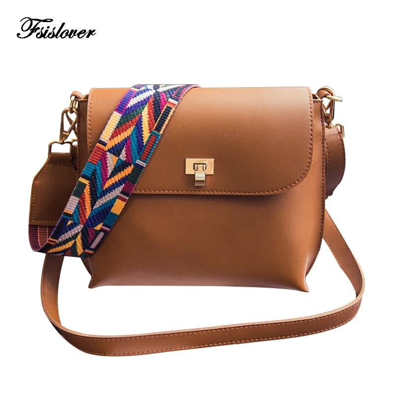 Fashion Colorful Strap Women Messenger Bags Women High Quality Pu Leather Shoulder Bag Brand Desinger Ladies Crossbody Bags