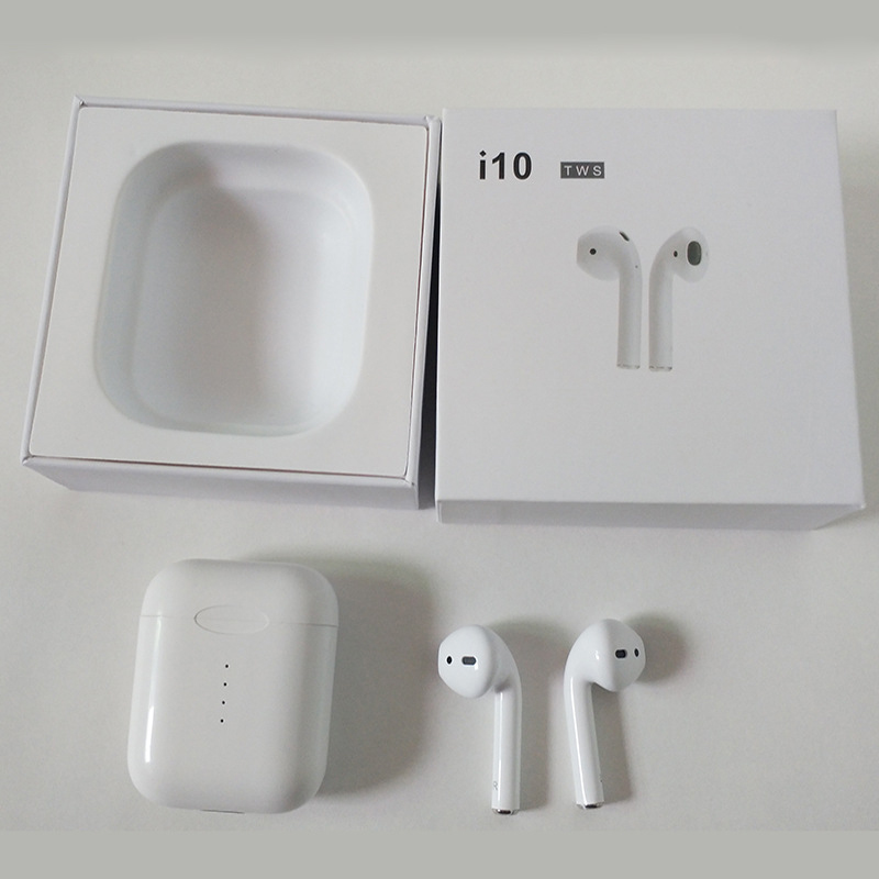 10PCS i10 TWS Earphone Mini Touch With Charging Box Wireless Earbuds For Bluetooth Android IOS Phone samsung Free DHL