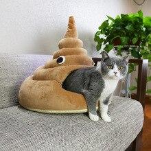 Lustige Poop Katze Bett, Erhältlich in 2 Farben und 3 Größen