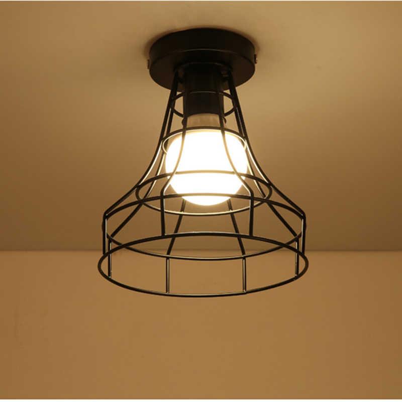 Современные светодиодные потолочные светильники из кованого железа E27, черные потолочные светильники для кухни, гостиной, спальни, кабинета, коридора, ресторана, кафе-отеля
