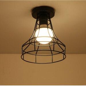 Image 4 - מודרני יצוק ברזל E27 led תקרת מנורות שחור תקרת אורות סלון מטבח חדר שינה מחקר מעבר מסעדת קפה מלון