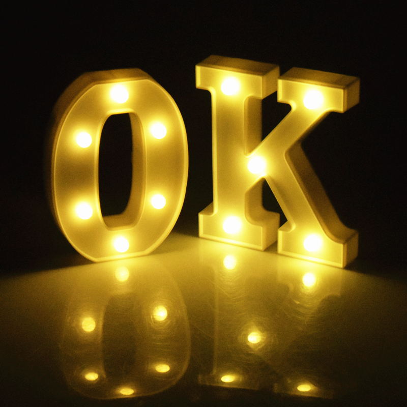 Letter F Illuminated Battery Operated Lumieres Lights