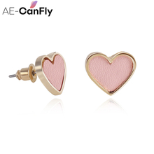 2017 stud earrings for women pendientes mujer moda factory  wholesale lady ear jewelry love shape earring female EX060