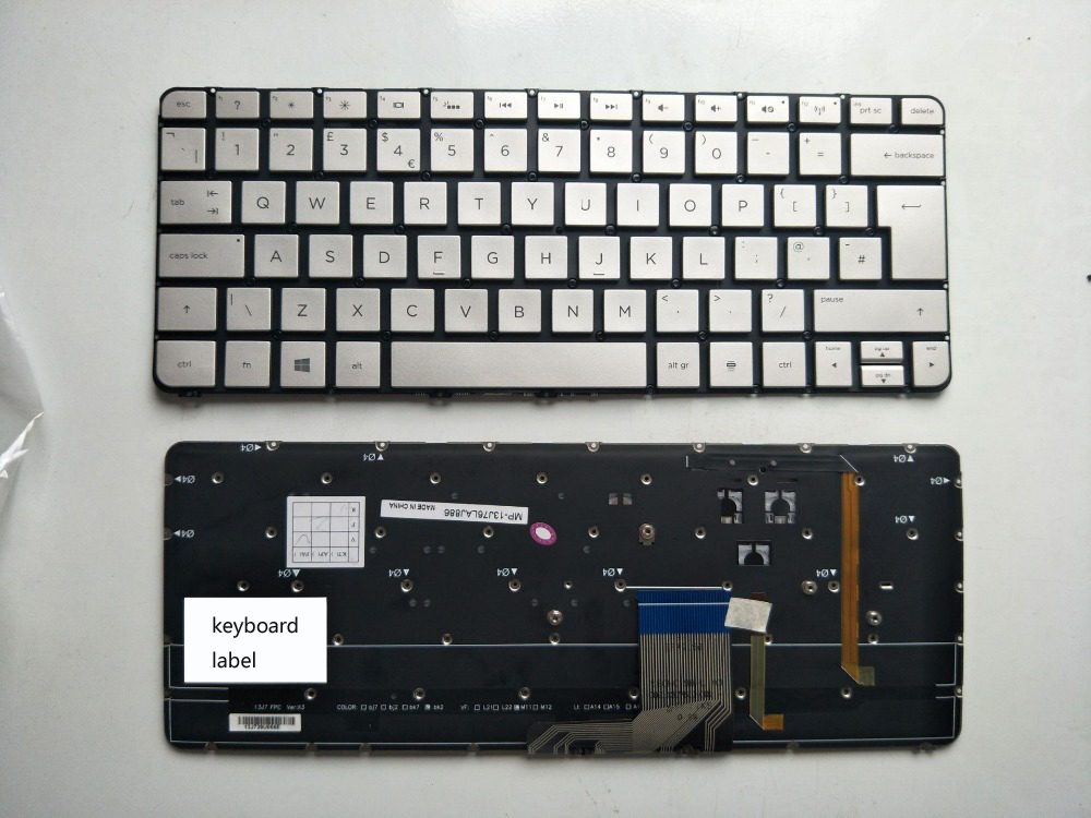New notebook laptop keyboard for HP Spectre 13-3000 13T-3000 series QWERTY FR french/IT italy/UK/LA latin layout
