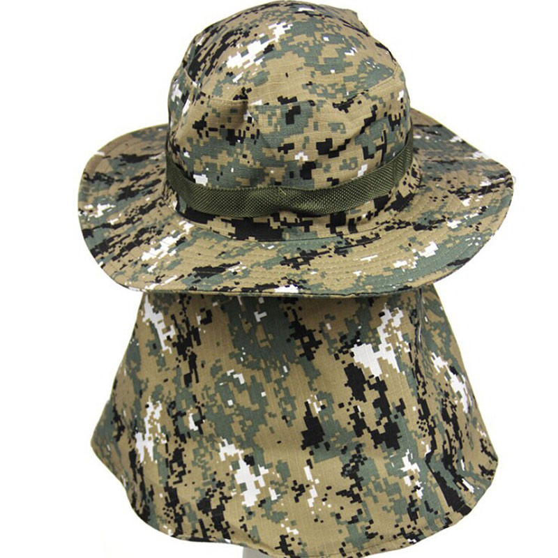 cdeee177 Outdoor Hunting Men's Jungle Bonnie Hat Digital Camo Fishing Sun Flap  Bucket Hat -in Bucket Hats from Apparel Accessories on Aliexpress.com |  Alibaba Group