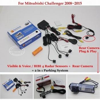 For Mitsubishi Challenger 2008~2015 Car Parking Sensors Sensor Reverse Rearview Camera Auto Alarm System