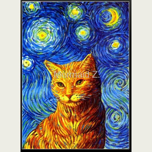 100 Hand Painted Art Abstract Oil Painting Starry Night