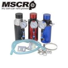 Алюминиевый двигатель 9 мм Фитинги маслоуловитель резервуар Сапун бак/CAN+ Вакуумный Манометр/маслоуловитель БАК/маслоуловитель