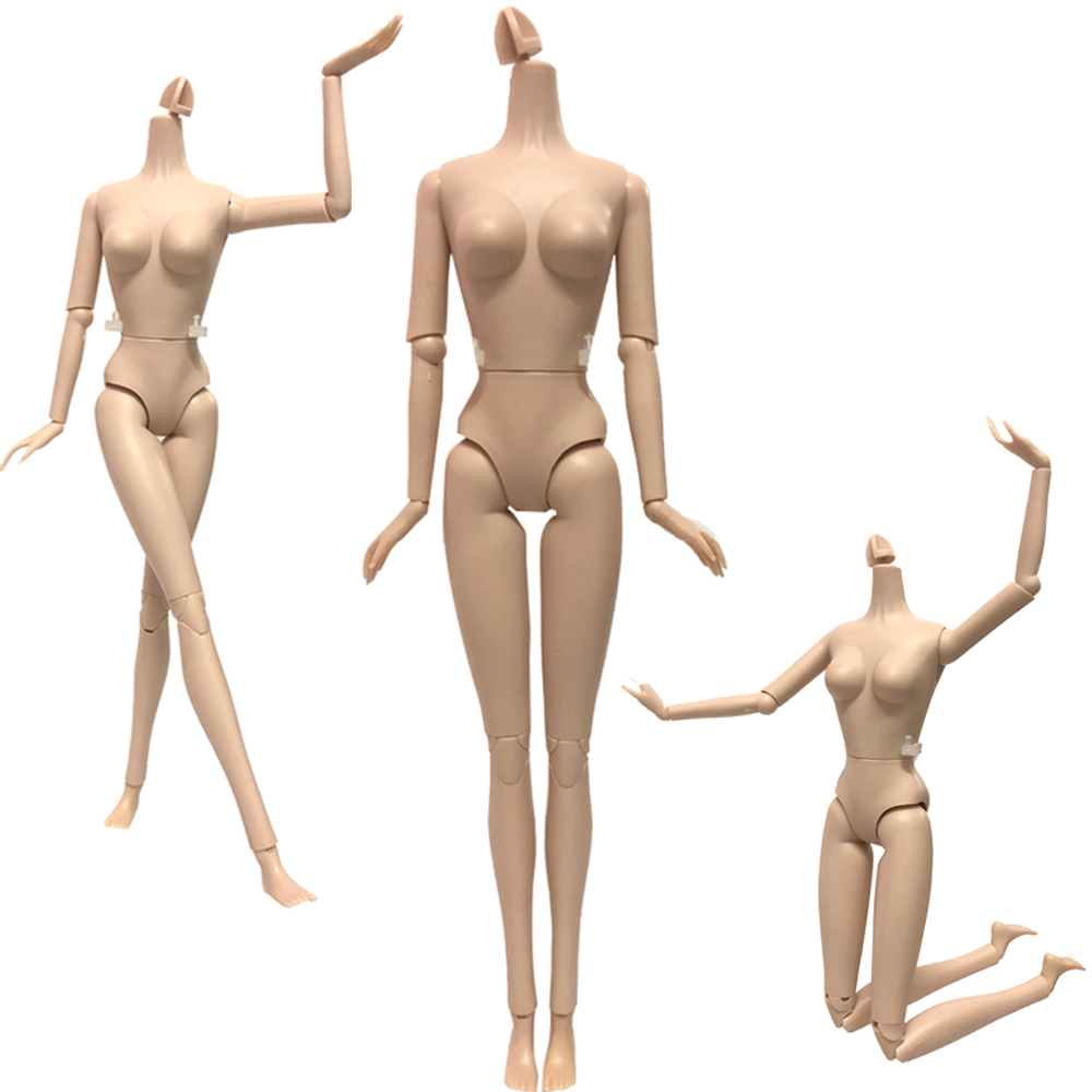 NK 2019 One Pcs Doll  Body 12 Jointed Movable Nude Doll About 30cm 11.8 inch For Barbie Doll Accessories Baby Toys  DIY Gift DZNK 2019 One Pcs Doll  Body 12 Jointed Movable Nude Doll About 30cm 11.8 inch For Barbie Doll Accessories Baby Toys  DIY Gift DZ