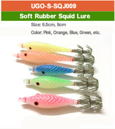 soft rubber squid lure