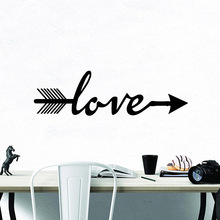 Artistic Love Wall Stickers Self Adhesive Art Wallpaper For Babys Rooms Bedroom Living Room Sticker Home Decor vinilo pared