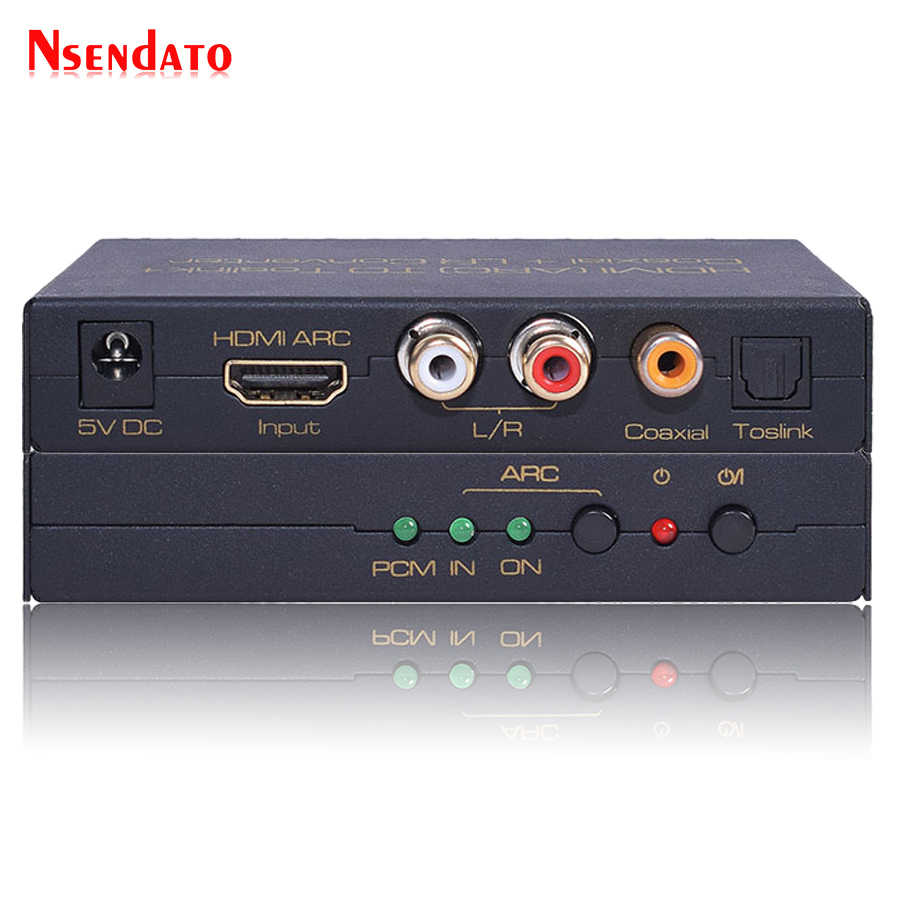 Hdmi Arc Hdmi Optical Digital Coaxial Analog Audio Adaptor Hdmi Arc To Toslink Coaxial L R Converter Adapter Converter Support Dolby Ac3