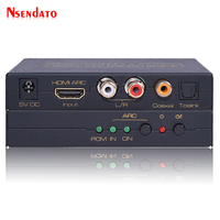 HDMI Optical Digital Coaxial Analog Audio Adaptor HDMI ARC TO Toslink Coaxial L/R Converter Adapter Converter Support Dolby AC3