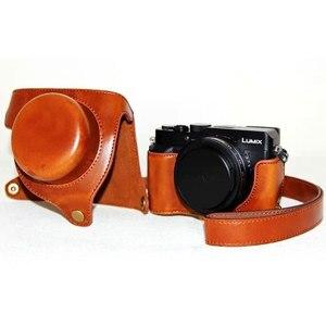 Чехол из искусственной кожи для Panasonic lx100 LUMIX LX100 DMC-LX100 камера с кожаным плечевым ремнем кожаная сумка для видео аксессуары