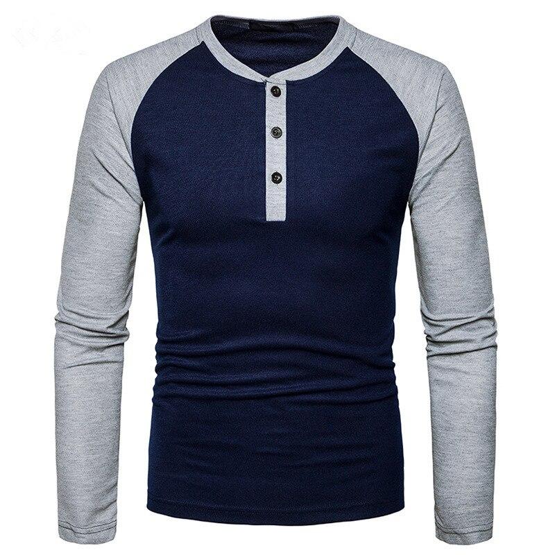 Men T-Shirt 2017 Autumn New Long Sleeve s