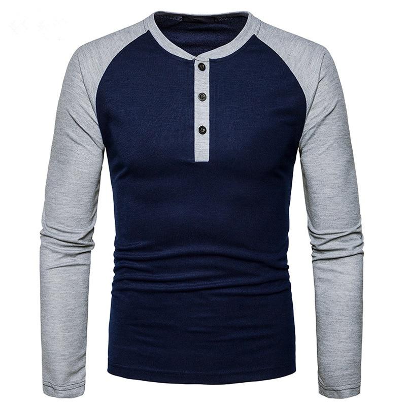 Men T Shirt 2017 Autumn New Long Sleeve O Neck T Shirt Men Brand Clothing Fashion