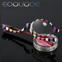 Women Reading Glasses Mini Eye Oculos Coloured Strip Color +150 +200 +250 +300 +350 +400 Make-up Glasses(China)