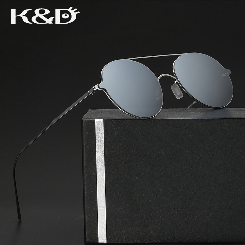 K & d new sonnenbrille spiegel objektiv runde form metall legierung ...