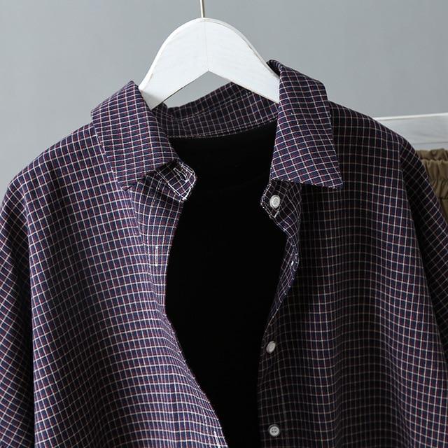 2019 Vintage Women Cotton Blouses  4