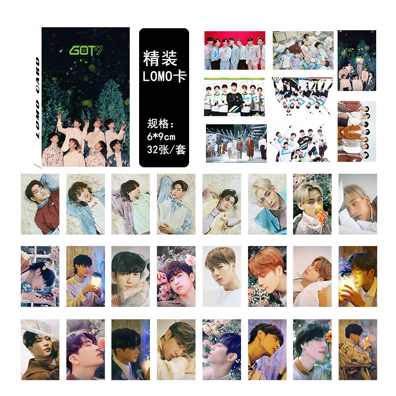 mykpop New Fashion got7 Lomo Card 32pcs/set Kpop Fans Collection Sa19041703