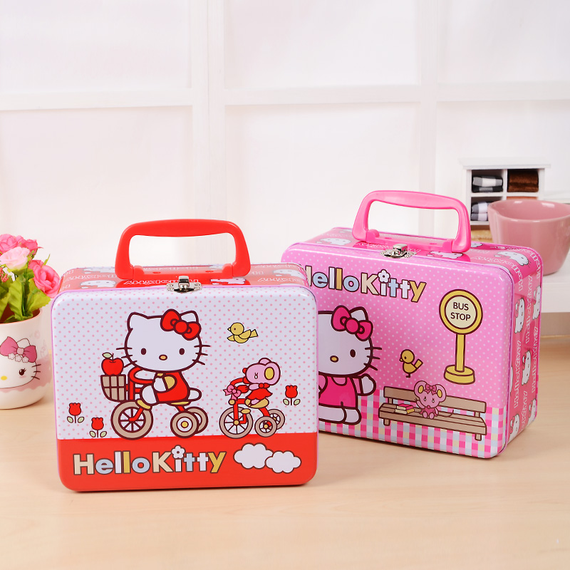 fd7d7c10a Boutique Hello Kitty Iron Tin Gift Box Large Candy Box Jewelry Box Storage  Makeup Organizer Organizador-in Storage Boxes & Bins from Home & Garden on  ...