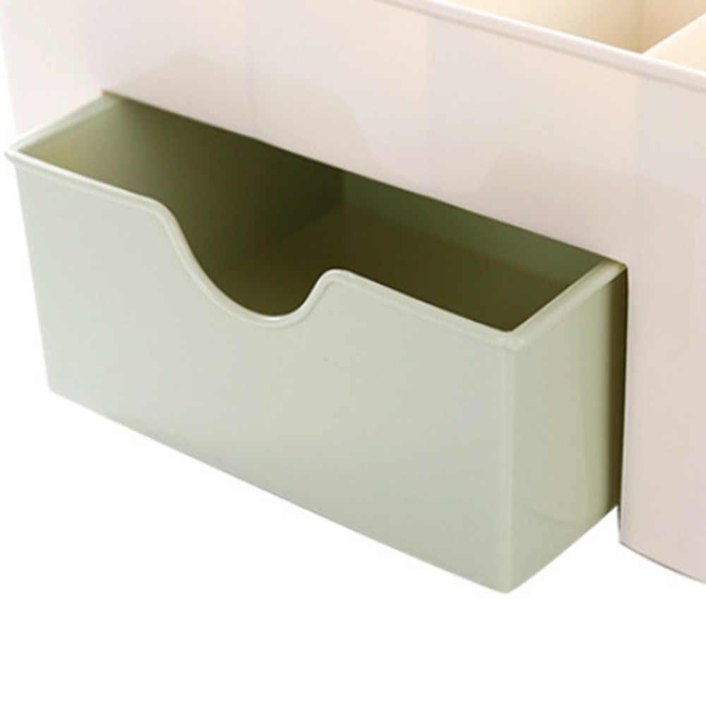 Desktop Up Organizer Plastic Opbergdoos Cosmetische Organizer Make Storage Case Cosmetica Houder Sieraden Doos Met Lade