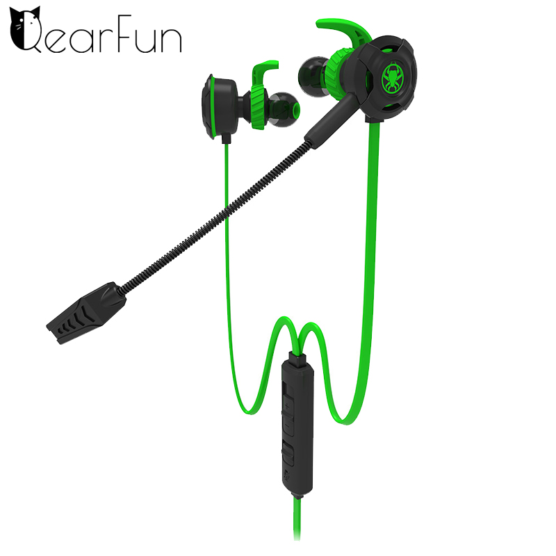 Qearfun In-Ear Type Double Wheat Subwoofer Electronic Sports Listen To The Sound Computer Phone 7.1 Eat Chicken Game Earphone
