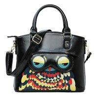 Lady Bags Women Handbag Brand Owl Pattern Cross Body Zipper Shoulder Bags Female Keys Phone Messenger