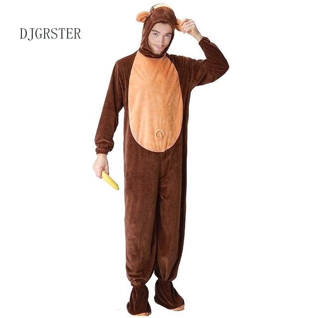 DJGRSTER Per Adulti Animal Halloween Costumi Cosplay Scimmia Peluche Costume  Animale Per Gli Uomini Halloween Tute 8b66f4f24b7