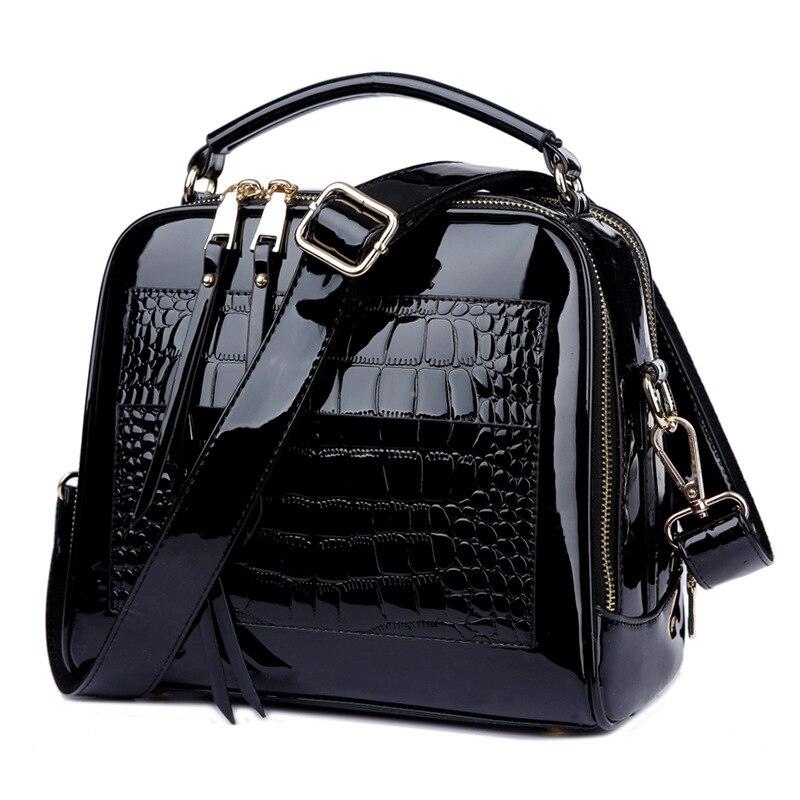 ФОТО Top Quality 2017 Fashion Women Shoulder Crossbody Shell Bags Bolsa Feminina Women's Patent Leather Handbags Tote